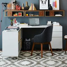 Lacquer Storage Desk Set - Box File + Bookshelf $1,499 West Elm