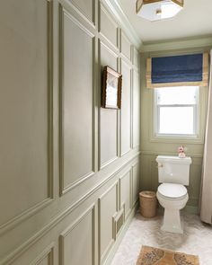 MAIN BATHROOM ONE ROOM CHALLENGE: THE REVEAL • A Glass of Bovino Wood Vanity, Wood Mirror, Bathroom Shop, Bathrooms, Bathroom Sinks, Bathroom Ideas, Wall Molding, Molding Ideas, Moldings