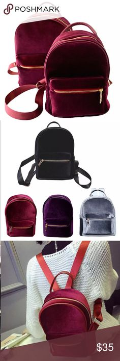 """New✨✨ Red Velvet Backpack 😍✨✨ Super cute and the new """"In"""" Backpack- Very High Quality 😍✨  🔸Brand New✨ 🔸PRICE IS FIRM- already listed at lowest price  🔸If you want to save please look into bundling  🔸In Stock 🔸No Trades 🔸Will ship within 24 hours Monday-Friday  🚫Please -NO- Offers on items priced $10 and under AND ON SALE ITEMS‼️  🚫Serious Inquiries Only❣️  🔹Bundle one or more items from my boutique to only pay one shipping fee✨ Bags Backpacks"""