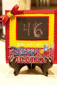 Disney countdown calendar, I created my own based from several different things… Disney Diy, Disney 2015, Run Disney, Disney Crafts, Disney Dream, Disney Love, Disney Magic, Walt Disney, Viaje A Disney World