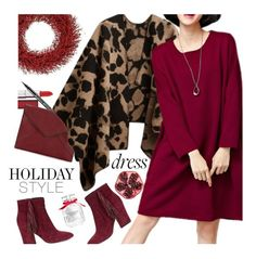"""Holiday Style: Oversized Dresses"" by ansev ❤ liked on Polyvore featuring Maybelline, Rebecca Minkoff, OKA, Victoria's Secret, Nails Inc., NARS Cosmetics, holidaystyle and oversizeddress"