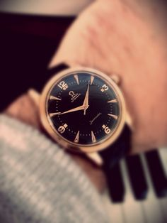 Stunning Vintage Seamaster In Pink Gold With Original Black Dial Circa 1950s