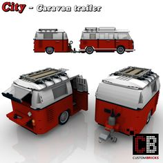 Check out these cute trailers and caravans you can attach to your LEGO MINI Cooper! You can also build your own with the available instructions! T1 Bus, Vw T1, Volkswagen, Train Lego, Lego Trains, Legos, Lego Mini, Lego Cars, Technique Lego