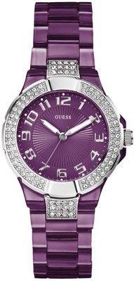 Guess Watch, Women's Purple Polycarbonate Bracelet 36mm U95198l4