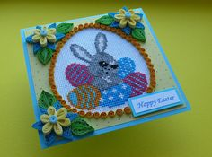 Quilling Easter Bunny Egg Card Happy Easter Card Handmade