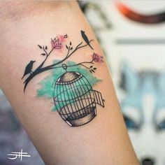 Tattoo by @johndois! #passaro #passarinho #bird #nature #natureza ...