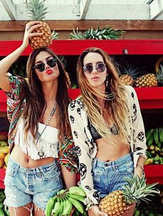 girls and pineapples
