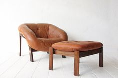 Percival Lafer Rosewood Leather Lounge Chair by OtherTimesVintage