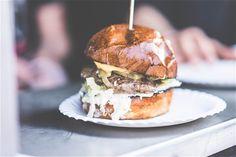 Homemade Fresh Hamburger at Friends Party Free Stock Photo