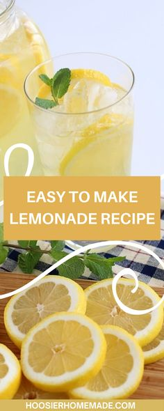 Easy to Make Lemonade Recipe for those spring and summer days. With the weather warming up you'll be looking for a tasty way to stay hydrated! This lemonade recipe is super easy to make and adds a goregous pop of yellow to any table! You won't be able to get enough of this easy to make lemonade! #lemonade #drinks #summerrecipes Tea Recipes, Summer Recipes, Smoothie Recipes, Hydrating Drinks, Stay Hydrated, Creative Food, Healthy Drinks, Summer Days, Lemonade