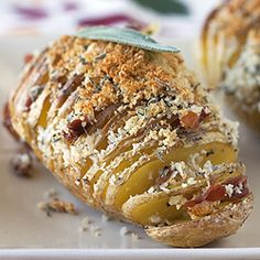 Hasselback Potatoes with Prosciutto and Sage