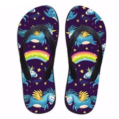 e3bed8eeb853 Women s Unicorn Rainbow Flip Flops Thongs