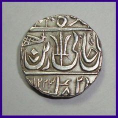 Maratha Confederacy One Rupee Ravishnagar Sagar Mint Silver Coin Hut House, Rare Coins Worth Money, All Currency, Gold And Silver Coins, Vintage India, Coin Worth, Antique Coins, Commemorative Coins, Illusion Art