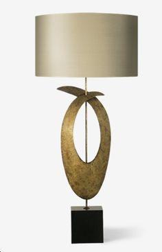 porta romana - SLB50 - Rockefeller Lamp - Mayan Gold with Slate base
