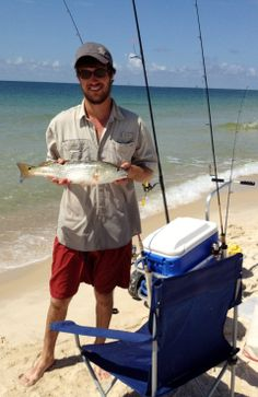 Surf fishing on the Gulf