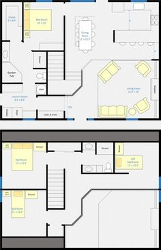 2 Bedrooms and 1 Bath Attic Plans for a small cape | 2nd Floor ...