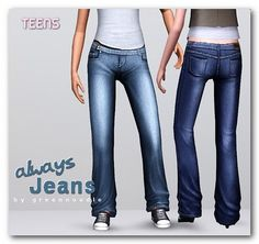 Imaginarium of Green: Always jeans - for teens (request)