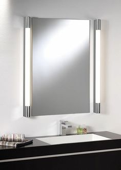 Bathroom mirror lighting Battery Operated Palermo 600 High Output Bathroom Wall Light In Polished Chrome For Abovebeside Mirror Pinterest 107 Best Bathroom Lighting Over Mirror Images Bathroom Light