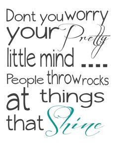 People throw rocks at things that shine.