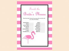 Finish the Bride's Phrase Phrase game Pink by MagicalPrintable