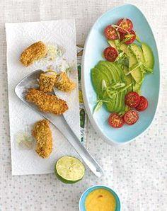 Seelachsfilet mit Avocado und Tomaten