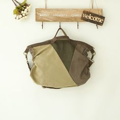 Green Fashion Three Color Matching Bag Handbag MESSENGER Bag Canvas Leisure Bag Laptop bag 4011