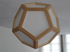Plywood Dodecahedron Lamp