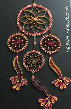 Being Creative in the world of Paper Crafting!!!: Quilled Dreamcatcher!