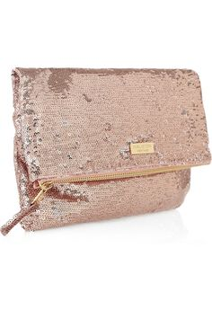 rose gold sequin clutch. I have gold and black but I'd lover this one too!