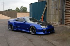 Gorgeous blue Toyota Supra with a Veilside kit!