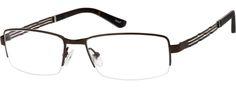 Men's Brown 1344 Pure Titanium Half-Rim Frame | Zenni Optical Glasses-TUy5uxrq
