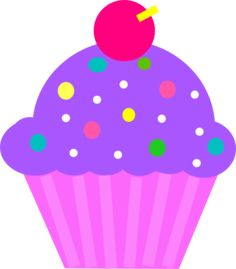 Purple Cupcake With Sprinkles Image Clipart - Free Clip Art Images