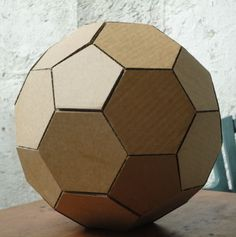 Picture of How to make a geodesic dome's scale model with cardboard, - This would be perfect for giant solar system in the main sanctuary! Cardboard Model, Cardboard Crafts, Paper Crafts, Pen And Paper, Paper Art, Geodesic Dome, Masking Tape, Soccer Ball, Boyfriend Gifts