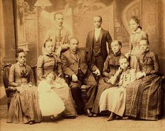 http://afroamhistory.about.com/b/2012/06/30/the-talented-tanners.htm   The Talented Tanner Clan - Bishop Benjamin Tanner, Henry Ossawa Tanner, and Halle Tanner Dillon Johnson are included in this photograph via @Femi Lewis