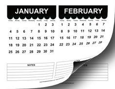 2015 Cute Scallop Calendar Calendar