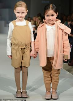 Kid's Fashion Week 2013: The adorable models show Chloe's A/W 13 collection which features fresh neutral shades in cosy fabrics