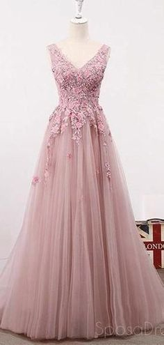See Through Blush Pink Lace A line Evening Prom Dresses, Long 2018 Party Prom Dresses, 17282   #prom #promdresses #longpromdresses #cheapromdresses #Dressesformal #fancydresses #eveningdresses #2019prom
