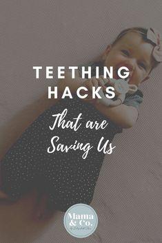 4 Teething Hacks that are Saving Us teething baby, teething remedies, teething baby relief Best Teething Toys, Teething Gel, Teething Remedies, Teething Baby Relief, Baby Teething, Baby Milestone Chart, Taking Care Of Baby, Baby Sign Language, Positive Discipline