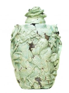 CHINESE CARVED TURQUOISE SNUFF BOTTLE : Lot 177