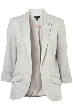 Ponte Rolled Sleeve Blazer / Top Shop