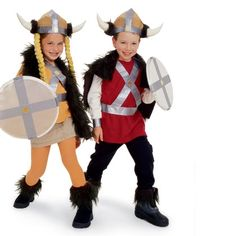 viking costumes ~ kids dress up and dramatic play ideas - Viking Halloween Costume, Vikings Halloween, Homemade Halloween Costumes, Halloween Kids, Boy Costumes, Carnival Costumes, Group Costumes, Costume Ideas, Camp Scout