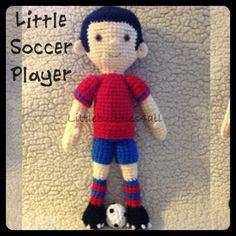 Crochet soccer player