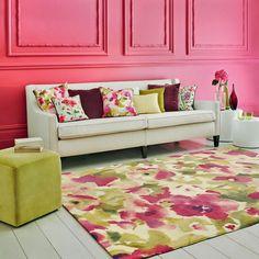 Sanderson Varese Rug £550 in Magenta Pink and Green Wool 170cm x 230cm RRP £899 | eBay