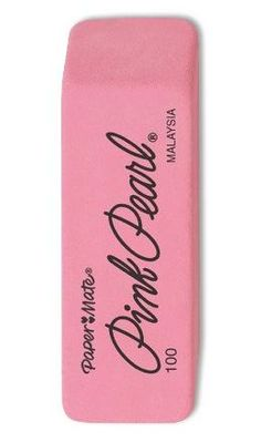 Pink eraser we love mistakes #ecrafty