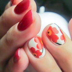 Trendy hair red tips nail art 61 ideas Red Tip Nails, White Tip Nails, Blue Nails, Polish Nails, Super Nails, Flower Nails, Cool Nail Designs, Nail Manicure, Simple Nails