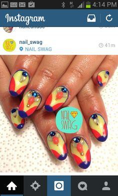 The tart deco nail by @nail_swag
