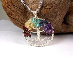Gorgeous Family Tree necklace pendant silver
