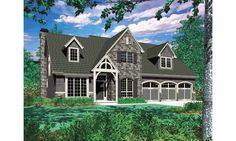 Eplans French Country House Plan - Five Bedroom French Country - 2803 Square Feet and 5 Bedrooms from Eplans - House Plan Code HWEPL60479