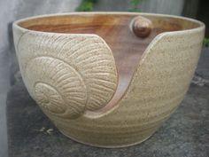 tan shell yarn bowl