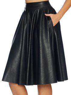 L - Route 66 Pocket Midi Skirt by Black Milk Clothing Jumpsuit Dress, Dress Skirt, Living Dead Clothing, Leather Midi Skirt, Work Uniforms, Black Milk Clothing, My Black, Rock, Route 66